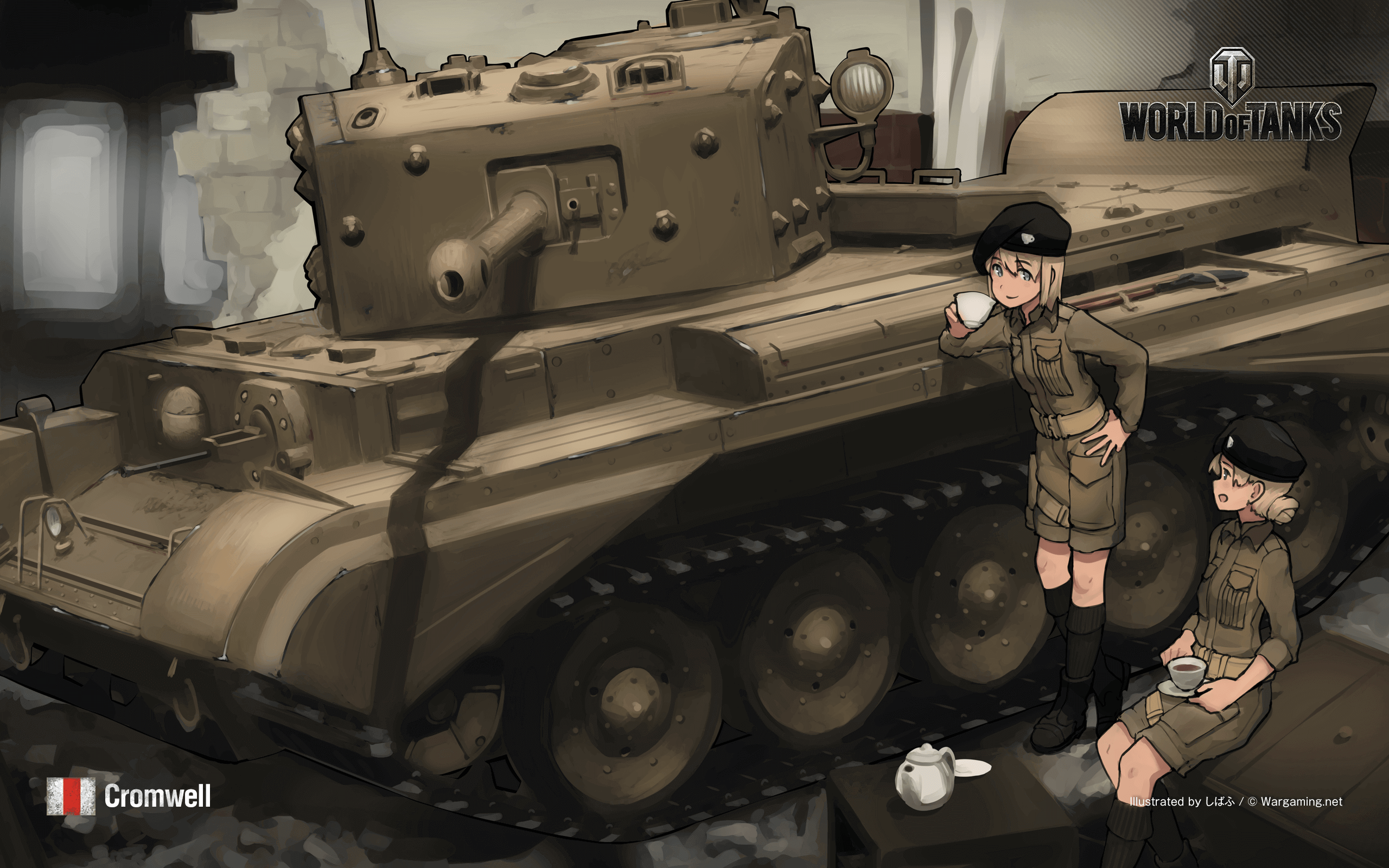 wot/wows anime wallpapers: montana, cromwell & t28 – the armored patrol